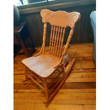 CLEARANCE Oak Rocker