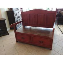 MR-SAL 13  Storage Bench - Antique Red or White