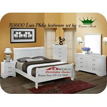 Crown Mark B3600 Louis Philip White Bedroom Set Houston Texas USA Aztec Furniture