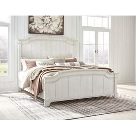 Nashbryn Cal King Panel Bed Whitewash