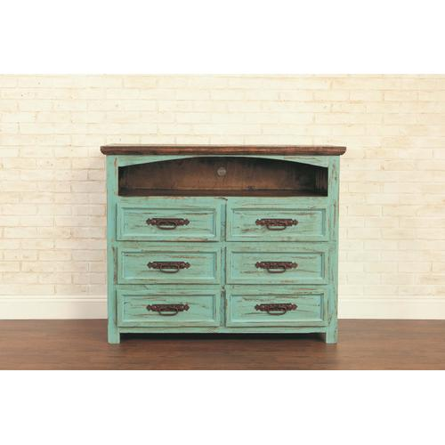 "Rustic Turquoise 50"" TV Stand"