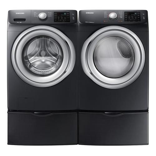 Samsung 4.5 cf Front Load Washer and 7.5 cf Electric Front Load Dryer with Pedestals