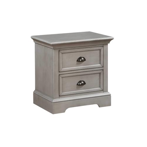 2-Drawer Youth Night Stand, Grey