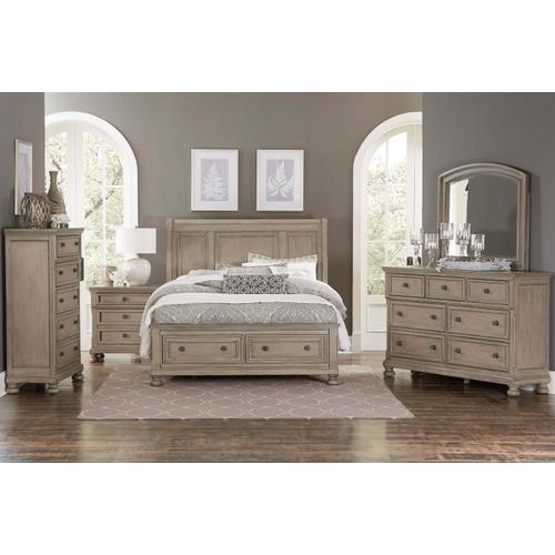 HOMELEGANCE 2259-5-6DM Bethel - Wire-brushed Gray Dresser & Mirror