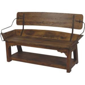 """Buckboard Bench Open Back - 60"""""""