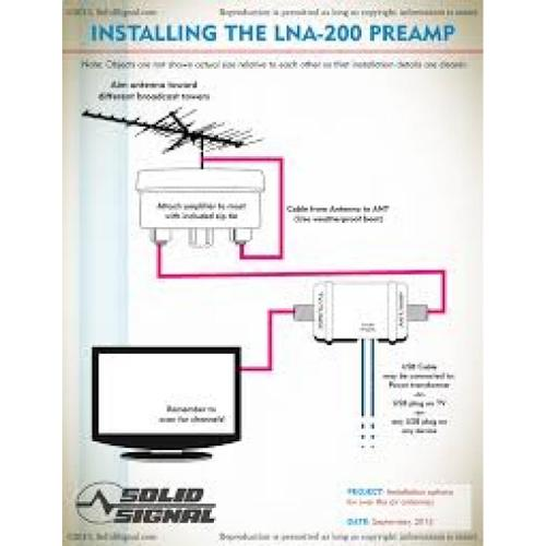 LNA-200 Boost XT Outdoor Digital TV Antenna Amplifier