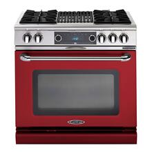 """See Details - Connoisseurian 36"""" Dual Fuel Self Clean Range (Ruby Red)"""
