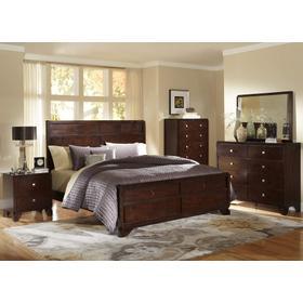 8Pc. Warm Chocolate Queen Bedroom Set