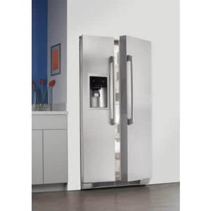 """Features a 9"""" tall water and ice dispenser, Luxury-Design glass shelves, Luxury-Glide crisper drawers, Luxury-Design lighting, Perfect Set temperature controls, a Fast Ice option, PureAdvantage air and water filters and Wave-Touch controls."""
