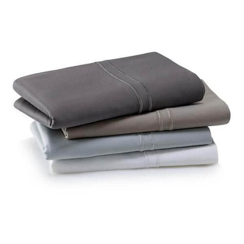 Woven Supima Cotton Pillowcase Set, King, Charcoal