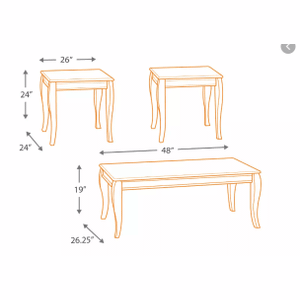 Mattie 3-Pack of Tables