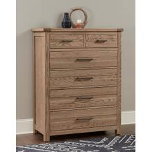 Highlands 5-Drawer Chest in Sandstone Finish