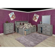 Urban Ranch Roomsaver Storage Bed Gray