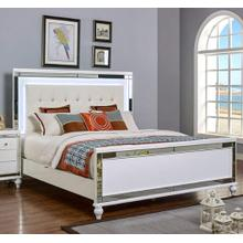 See Details - Valentino White Lighted Full Size Bed