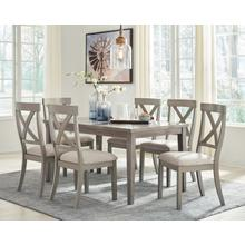 Parellen - Gray - 7 Pc. - Rectangular Table & 6 Upholstered Side Chairs