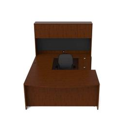 Jade - Executive Wood Veneer Pedestal with Boxes and File