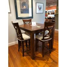 View Product - 5 Piece High Dining Set - Table w/ 4 Stools
