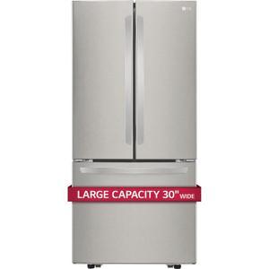 """22 cu. ft. Large Capacity 30"""" Wide 3-Door French Door Refrigerator Product Image"""