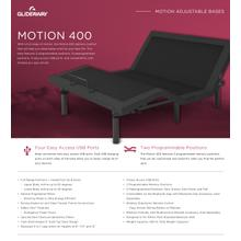 GLIDEAWAY GM400 Adjustable Comfort Livestyle Base