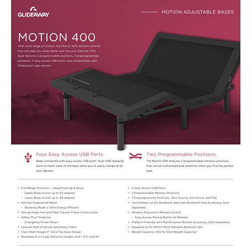 GLIDEAWAY GM400 Adjustable Comfort Livestyle Base