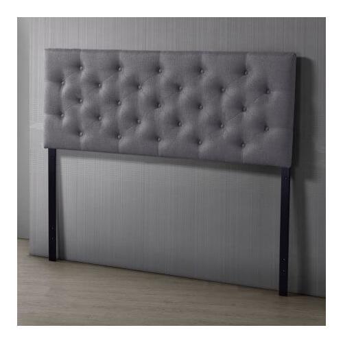 Misc - Viv Upholstered Gray Headboard - Queen