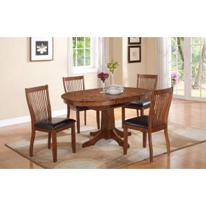 """Winners Only Inc - Broadway 60"""" Round Pedestal Table w/ 18"""" Butterfly Leaf"""