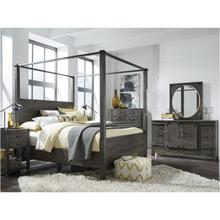 See Details - King Canopy Bed, Dresser, Mirror, Chest and 2 Nightstands