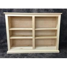 Maine Made 48X36 Double Bookcase 48W X 36H X 13D Pine Unfinished