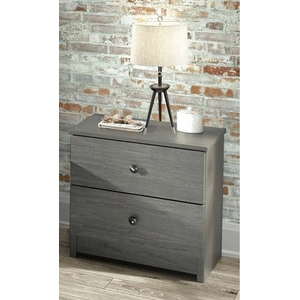 Innovations Furniture - YORK PLATFORM QUEEN BED WITH UNDER BED CHESTS in GRAY    *Chest, Dresser, Mirror, N.Stand Priced Separately*       (YORKQ,62813,14,16,15))
