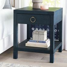 Bassett Ventura End or Bedside Table- Pacific Blue