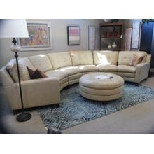 South Street Leather Sectional with ottoman LAST ONE