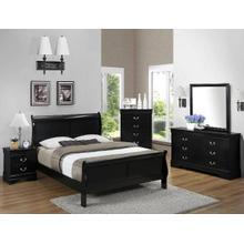 4 Piece Black Queen Bedroom Set