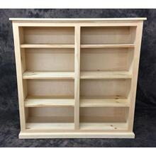 Maine Made 48X48 Double Bookcase 48W X 48H X 13D Pine Unfinished