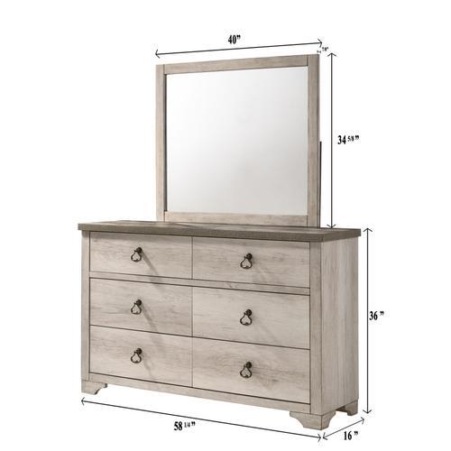 Crown Mark - Patterson Dresser and Mirror Set