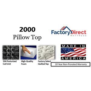 Factory Direct Mattress - 2000 - Pillow Top