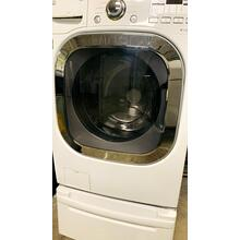 USED- XL Front Load  Washer with 9 Washing Programs and Pedestal Included FLWAS27W-U Serial #44