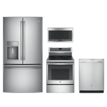 GE Profile 4-piece Stainless Steel Appliance Package With Electric Range