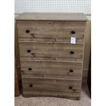 PERDUE WOODWORKS 4 DRAWER CHEST (WEATHERED GRY ASH)