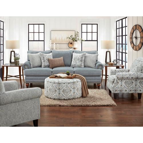 Fusion Furniture - BC2820  Sofa, Loveseat, Chair and Ottoman - Bates Charcoal