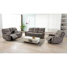 LIFESTYLE U80033-61BPSHINX U80033-42BPSHINX U80033-21BPSHINX Plush Oatmeal Reclining Sofa, Reclining Console Loveseat & Glider Recliner Group