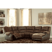Nantahala - Coffee - 2 Recliner Sectional with Right Facing Chaise