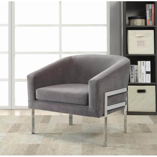Jim Z Grey Fabric Modern Accent Chair (Set of 2) with Curbside Delivery