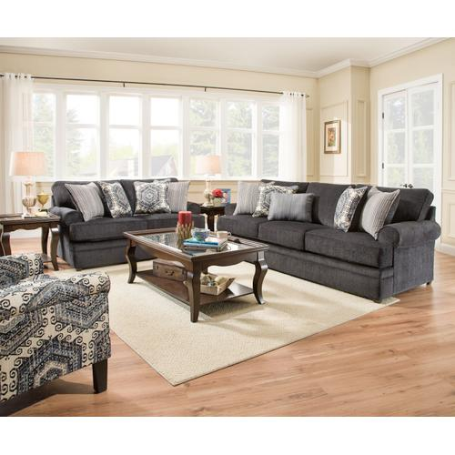 Simmons Upholstery - UNITED 8530BRG Bellamy Slate Sofa, Loveseat & Accent Chair Group