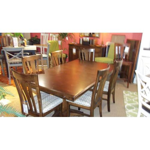 Bassett Furniture - BASSETT CUSTOM CASUAL DINING GROUP  -   46 x 76 RECT. DINING WITH 6 SIDE CHAIRS