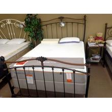 Wesley Allen Queen Size Bed in Copper/Black Finish Floor Sample as is
