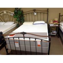 View Product - Wesley Allen Queen Size Bed in Copper/Black Finish Floor Sample as is