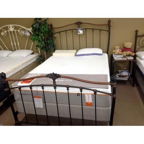 Wesley Allen Queen Size Bed in Copper/Black Finish Floor Sample as is