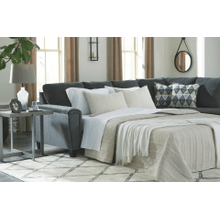 Abinger - Smoke   2-Piece Sleeper Sectional with Right Facing Chaise