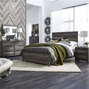 Tanners Creek - Panel Bed 6 Piece Bedroom Set in Greystone Finish - King Set