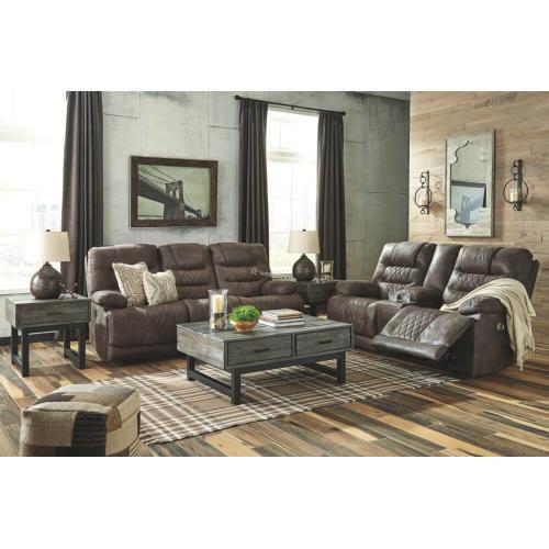 Ashley 543 Welsford Walnut Power Reclining Sofa & Love